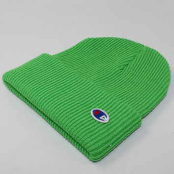 Champion Winter Purple Color Embroidery Men And Women Couples Knitted Hats Green G