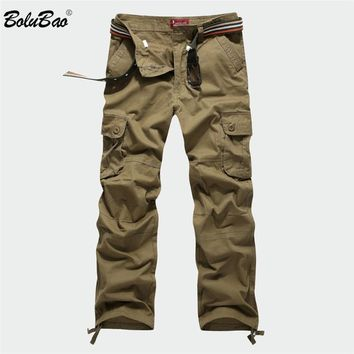 New Cargo Pants Men Multi Pockets Pants Military Camouflage Track Pants Trousers Men Elastic Waist Pant Men
