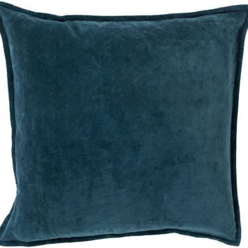 Cotton Velvet Throw Pillow Green