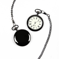 Personalized Gunmetal Finish Pocket Watch