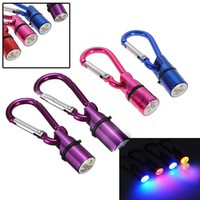 Azerin Cool Flashing LED Collar Tag for Dog Cat Pet Aluminum Waterproof Safety Free shipping
