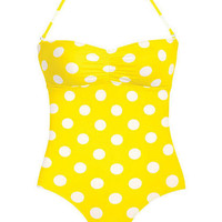 Shirring Bandeau One-Piece