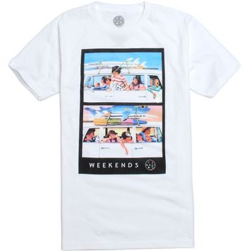 Maui & Sons Weekends T-Shirt - Mens Tee - White