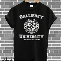 Gallifrey University Shirt Doctor Who DR Who Shirts Tshirt T-shirt Printed Black and White Color Unisex Size - AR64