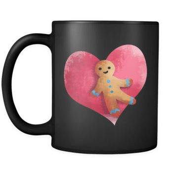 Gingerbread Man Christmas Black  11oz Mug