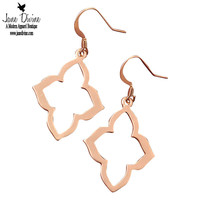 Quatrefoil Earrings-Gold | Jane Divine Boutique