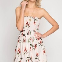 Strapless Sun Dress - Taupe