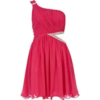pink little mistress one shoulder dress