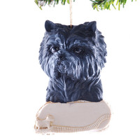 Cairn Terrier Christmas ornament - personalized toto dog Christmas ornament