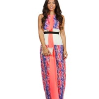 Sale- Coral Neon Spell Maxi Dress