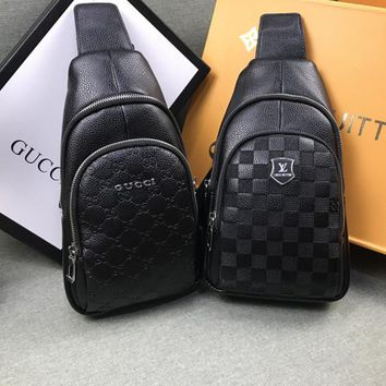 """Louis Vuitton"" ""Gucci""Classic Retro Fashion Simple All-match Messenger Bag Backpack Women Small Bag"