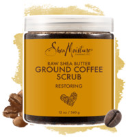 Raw Shea Butter Ground Coffee Scrub