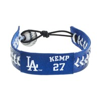 GameWear Los Angeles Dodgers Matt Kemp Leather Baseball Bracelet|GameWear Los Angeles Dodgers Matt Kemp Leather Baseball Bracelet