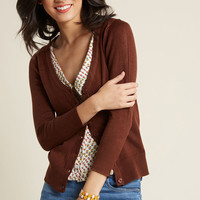 Charter School Cardigan in Honey