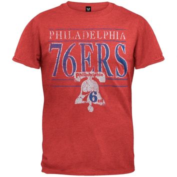Philadelphia 76Ers - Crackle Classic Logo Soft T-Shirt