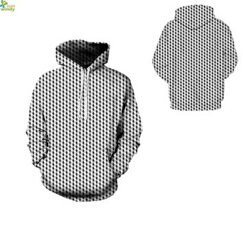 Mens Skateboarding Hoodies Black White Plaid Punk Sweatshirts Autumn Oversized Jumper Pullover Winter Outerwear Tracksuits Coats