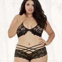 Plus Size Cheap Thrills Bra Top and Cheeky Panty
