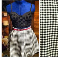 Black and white skirt  by AngeliqueMerici on Etsy