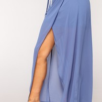 Wrap This Up Skirt - Blue