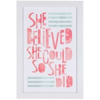 She Believed She Could Framed Art | Shop Hobby Lobby