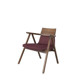 Pensil Lounge Chair Oak Natural, Lana 007 Canary by Wewood