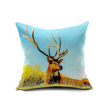 Cotton Flax Pillow Cushion Cover Animal   DW094