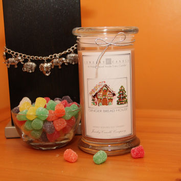 Gingerbread House Jewelry Candles