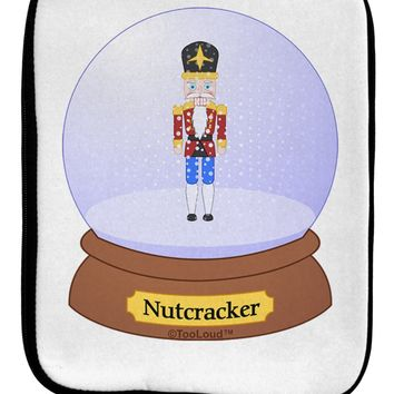 Nutcracker Snow Globe - Red Gold Black 9 x 11.5 Tablet  Sleeve by TooLoud