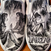 Disney's Tarzan Custom Made Shoes ARTWORK and SHOES INCLUDED