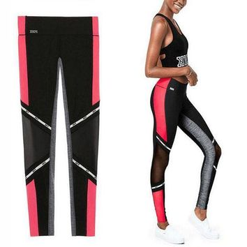 ONETOW Victoria's Secret PINK Women's Fashion Print Exercise Fitness Gym Yoga Running Leggings Sweatpants