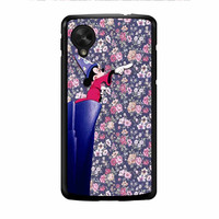 Mickey Mouse The Wizard Floral Vintage Nexus 5 Case