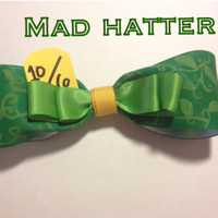 The Mad Hatter inspired disney bow