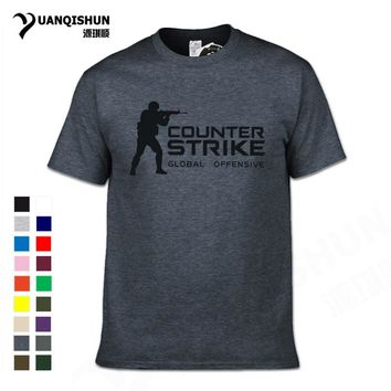CS GO Gamer T Shirt 2017 Hot Counter Strike Global Offensive CSGO Men Tshirt Top Quality Brand Clothing Funny T-Shirt Cotton Tee