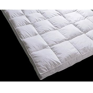 Downia White Goose Feather Mattress Topper (Full)