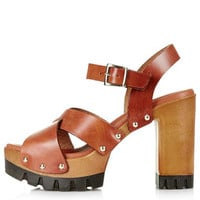 LYRICAL Wooden Platforms - Tan