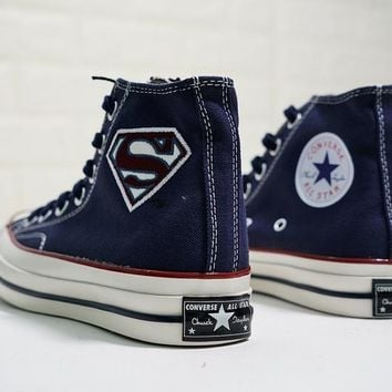 "Superman! CONVERSE Chuck Taylor All Star 1970S ""Navy"" Sneaker 124335"