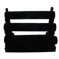 "Amazon.com: Bracelet 3 Tier T-Bar Jewelry Display Black Velvet ,jewelry organizer approx 11"" x 12"": Home & Kitchen"