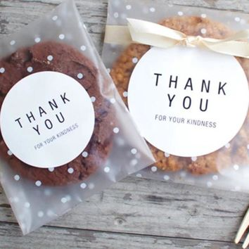 100pcs/60pcs Transparent Plastic Bag Candy Cookie Gift Bag ✈ Worldwide Delivery
