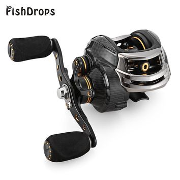 Fishdrops LB200 Fishing Reel GT 7.0:1 Bait Casting Reels Left Right Hand Fishing One Way Clutch Baitcasting Reel