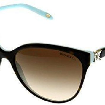 Tiffany & Co Sunglasses Womens Tortoise Butterfly Tf4089b 81343b