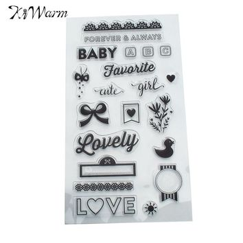 KiWarm Funny Baby Forever Always Clear Silicone Rubber Stamp for DIY Scrapbooking Photo Album Paper Cards Decorative Craft