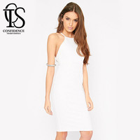 2015 New White Dress Sexy Club Bodycon Dress Party Elegant  Bandage Dress Women Plus Size Summer Dress vetement femme robe