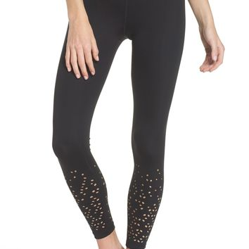 Zella Geo High Waist Lasercut Leggings | Nordstrom