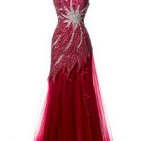 KC131559 One Shoulder Beaded Prom Dress by Kari Chang Couture