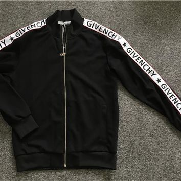 QIYIF Replica UA Givenchy zipper jacket (Givenchy written on the sides of the sleeves)