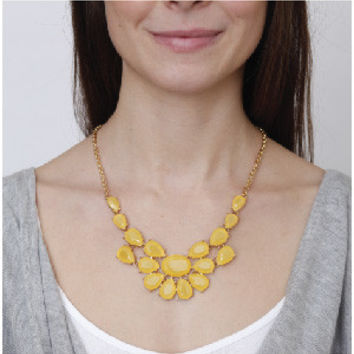 Yellow Statement Necklace by KnitPopShop