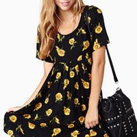 Sunflower Babydoll Dress