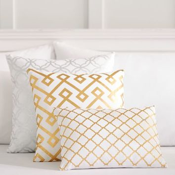 Decorator Foil Pillow Covers