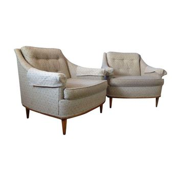Pre-owned Mid-Century Modern Club Chairs - A Pair
