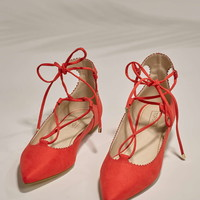 FINEST Ghillie Lace-Up Flats - Topshop